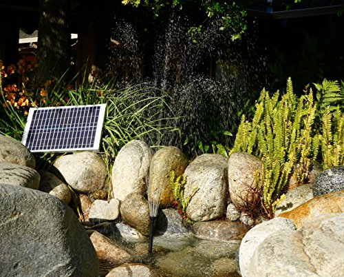 Solar Water Pump Kit 400+GPH with 12V Brushless Submersible Water Pump and 20 Watt Solar Panel for DIY Solar Powered Pond, Fountain, Water Feature, Hydroponics, Aquarium, Aquaculture