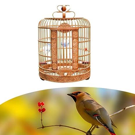 MC.PIG Jaula de pájaros Tallada Chuan Jaula de pájaros de tamaño ...