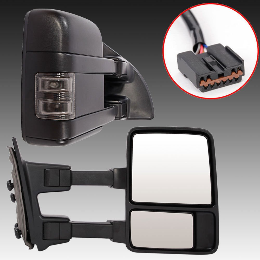 Chevy Tow Mirrors For 1999 2000 2001 2002 Chevrolet Gmc Factory Audio Wiring Diagrams Tahoe Silverado Sierra 1500 2500 3500 Yukon Pickup Power Heated Towing Pair