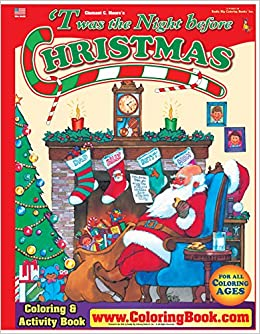 Twas The Night Before Christmas Really Big Coloring Book ColoringBook Books 9780972783316 Amazon