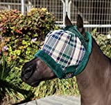 Kensington Mini Fly Mask with Fleece Trim — Protects Face from Biting Insects and UV Rays While Allowing Full Visibility - Mini and Average Mask (Deluxe Hunter, Average Mini)