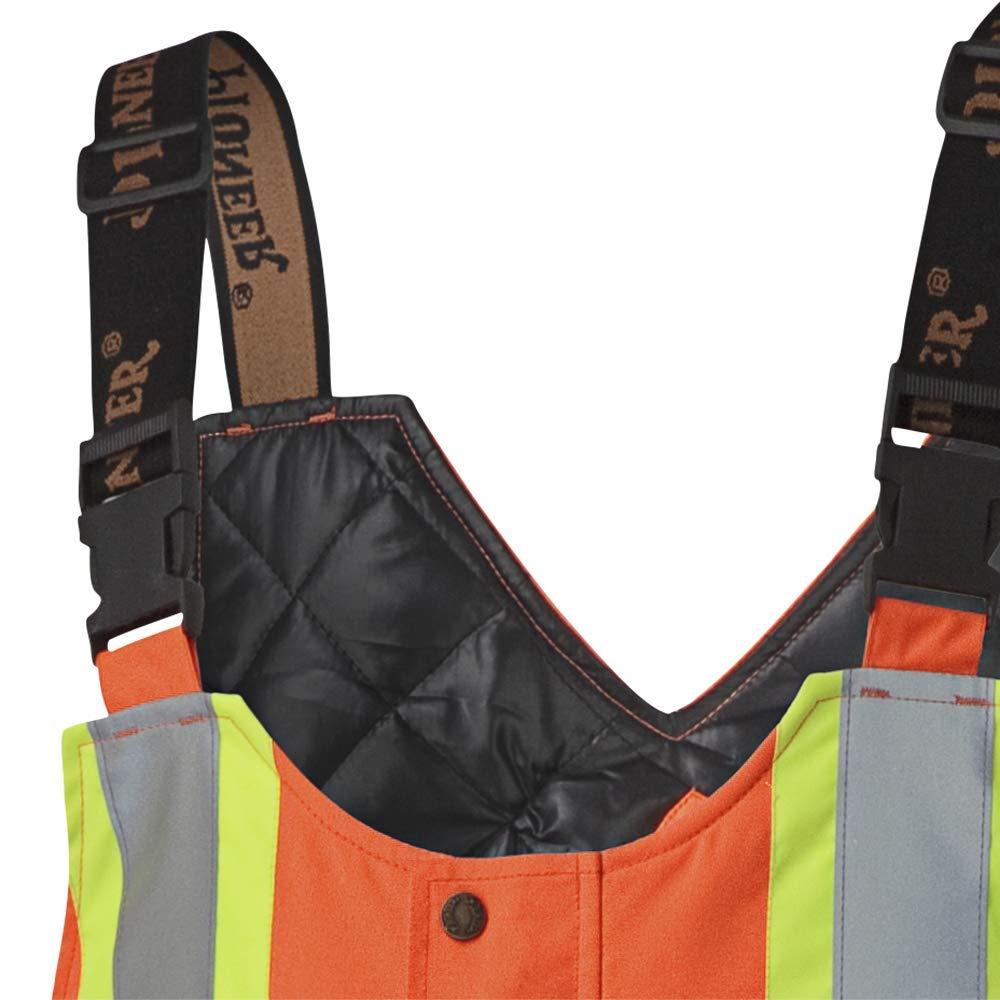 Black XL Men Hi-Vis Bib Pants Pioneer V1120870-XL Insulated Waterproof Work Overall Easy Boot Access