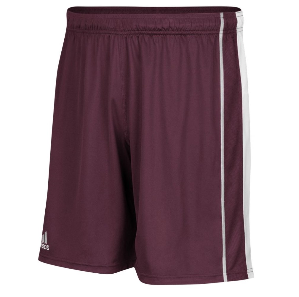 adidas Men's Climacool Utility Short Without Pockets B01I5XLEX0 Small|Maroon-White