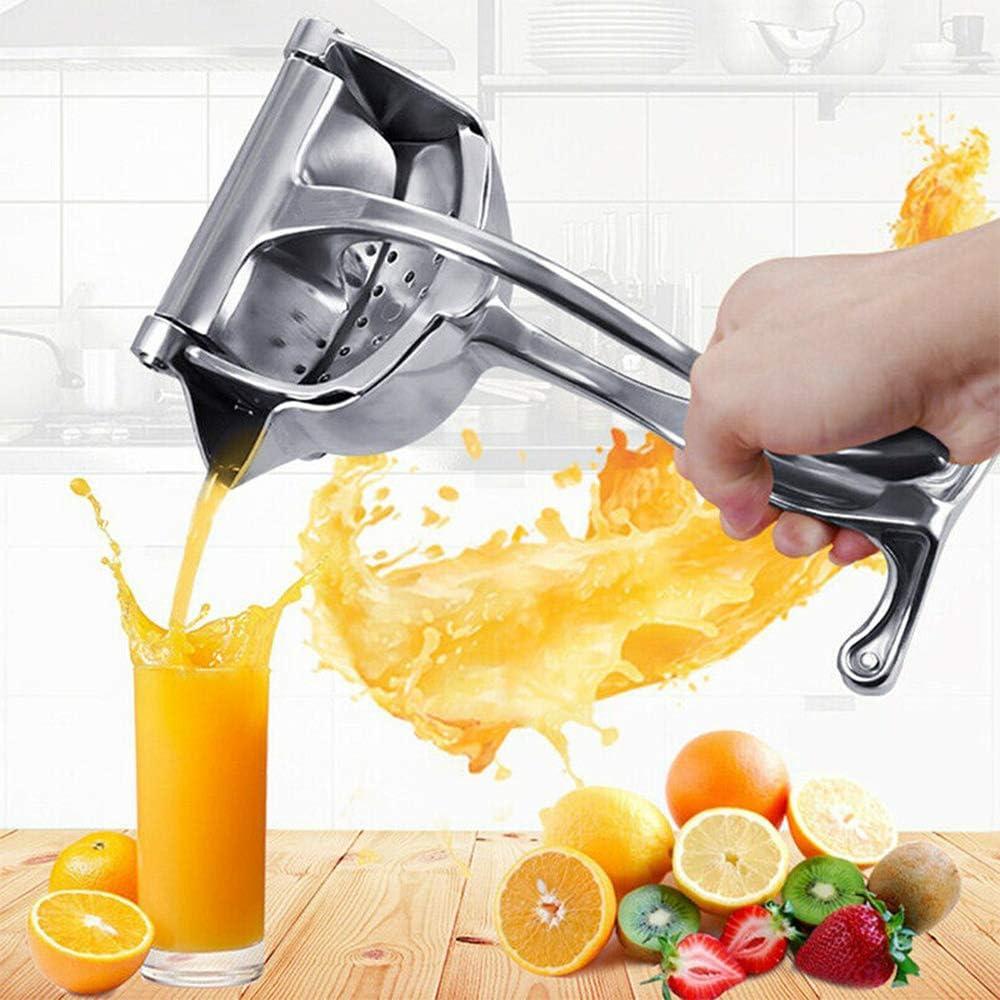 Manual Juicer, Stainless Steel Lemon Squeezer Press UPGRATED Fruit Press Hand Squeezer Juicer, Heavy Duty Citrus Manual Oranges, Apple,Juicer