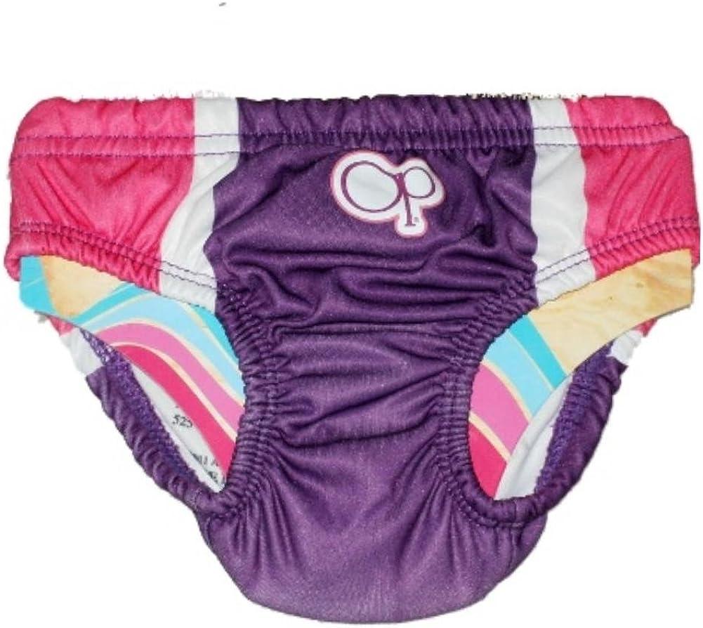 Ocean Pacific Infant Girls Pink /& Purple Reusable Swim Diaper