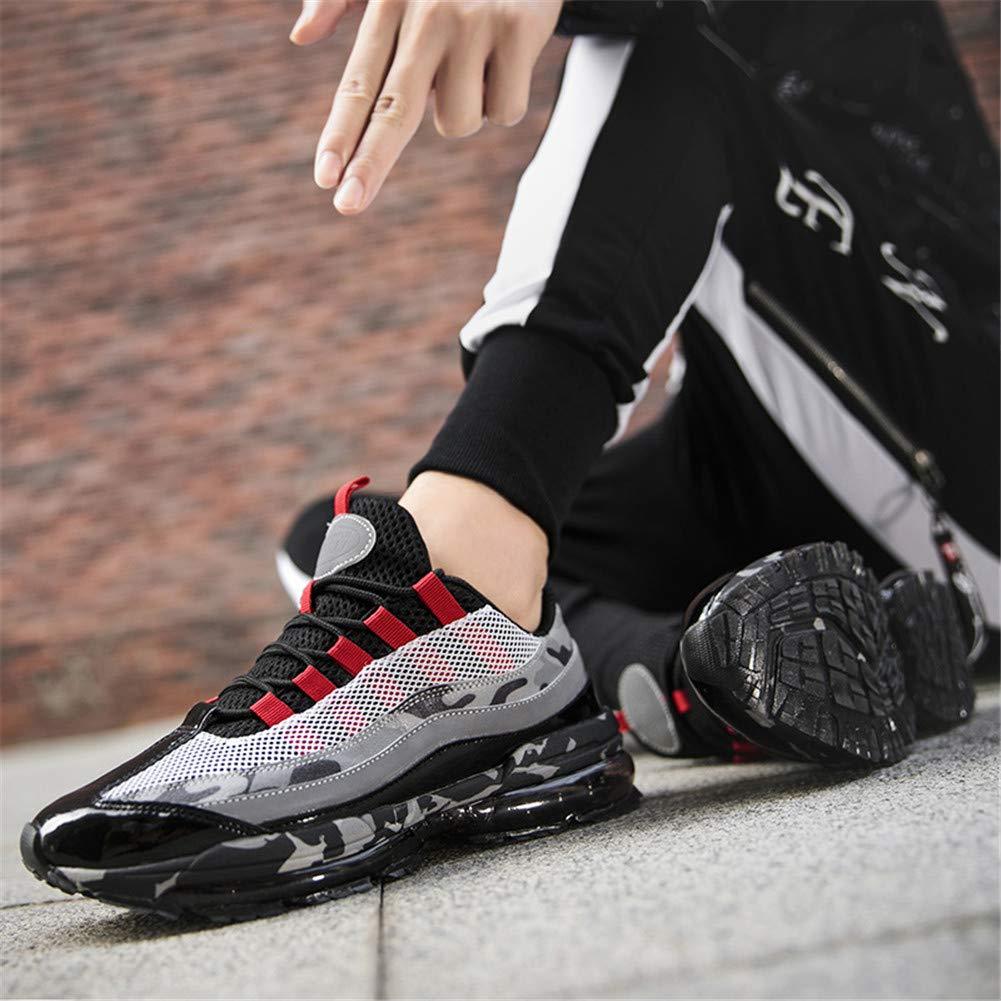 Veluckin Zapatillas de Running para Hombre,Rojo,44EU