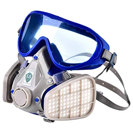 c114efc1a9d DGTRHTED Gas Mask - Silicone Full Face Respirator Gas Mask Goggles  Particulate Chemical Dust proof  Amazon.co.uk  Kitchen   Home