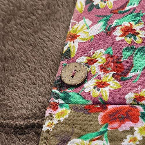 Tallas Cinnamou Cremallera Jersey Con Kimonos Capucha Multicolor Abrigo Chaqueta Impresión Mujer Outwear 33 Grandes Caliente Floral Sudadera Invierno Suéter Bolsillos De Cardigan Grueso rWqz4rAPw