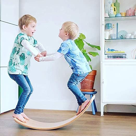 AINY Tablero de Equilibrio de Madera Wobbel Balance Board ...