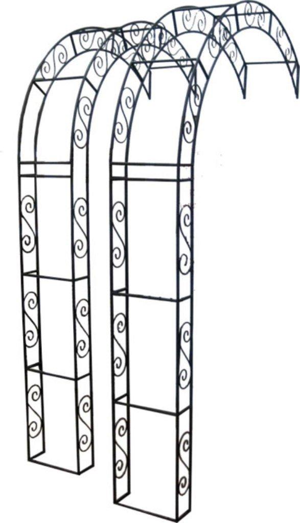 Rosenbogen Halbbogen aus Metall, Rankhilfe Pergola 76014