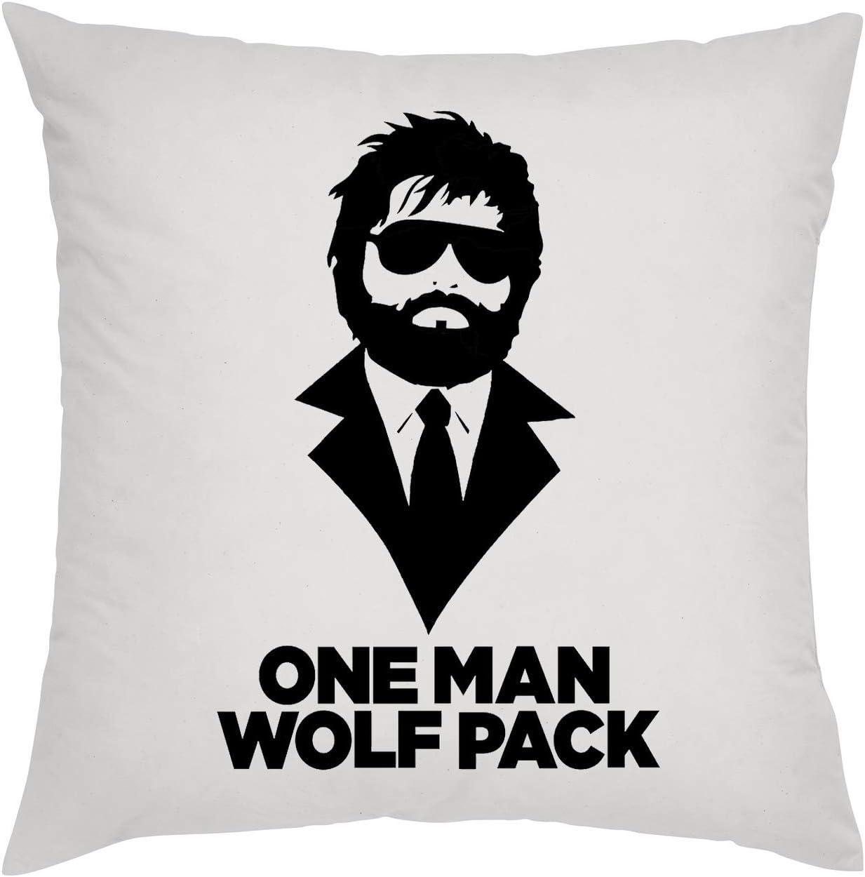 KRISSY One Man Wolf Pack Funny Almohada Pillow: Amazon.es: Hogar