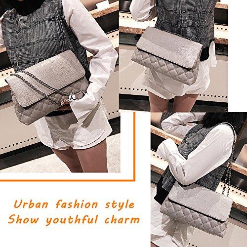 Grey Sac De Messenger Doux Pour Des Mini Sac Soirée Plaid Simple Sacs Dames Sac à Chaîne Femmes Bandoulière à Le Mode RqzfWCnxw