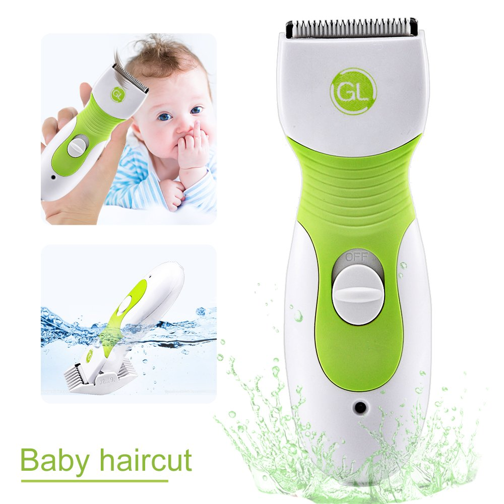Gland Baby Hair Clipper L-9A, Professional Haircuts with Ceramic Blade & Extra Combs, Ultra Quiet & Waterproof Grooming kit, Chargeable Hair Trimmer for Baby Infant Kids Children Boys Girls by GL Gland Electronics
