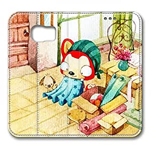 Samsung S6 leather Case,Samsung S6 Cases ,Ali's new clothes Custom Samsung S6 High-grade leather Cases