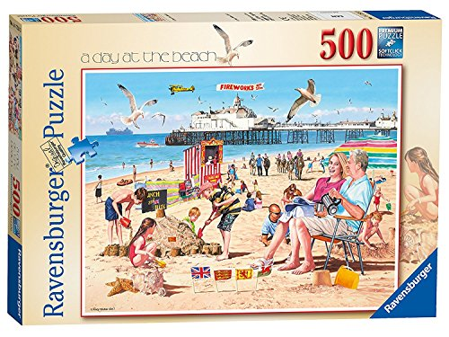 500pc Ravensburger Jigsaw Puzzle - Ravensburger A Day at The Beach 500pc Jigsaw Puzzle