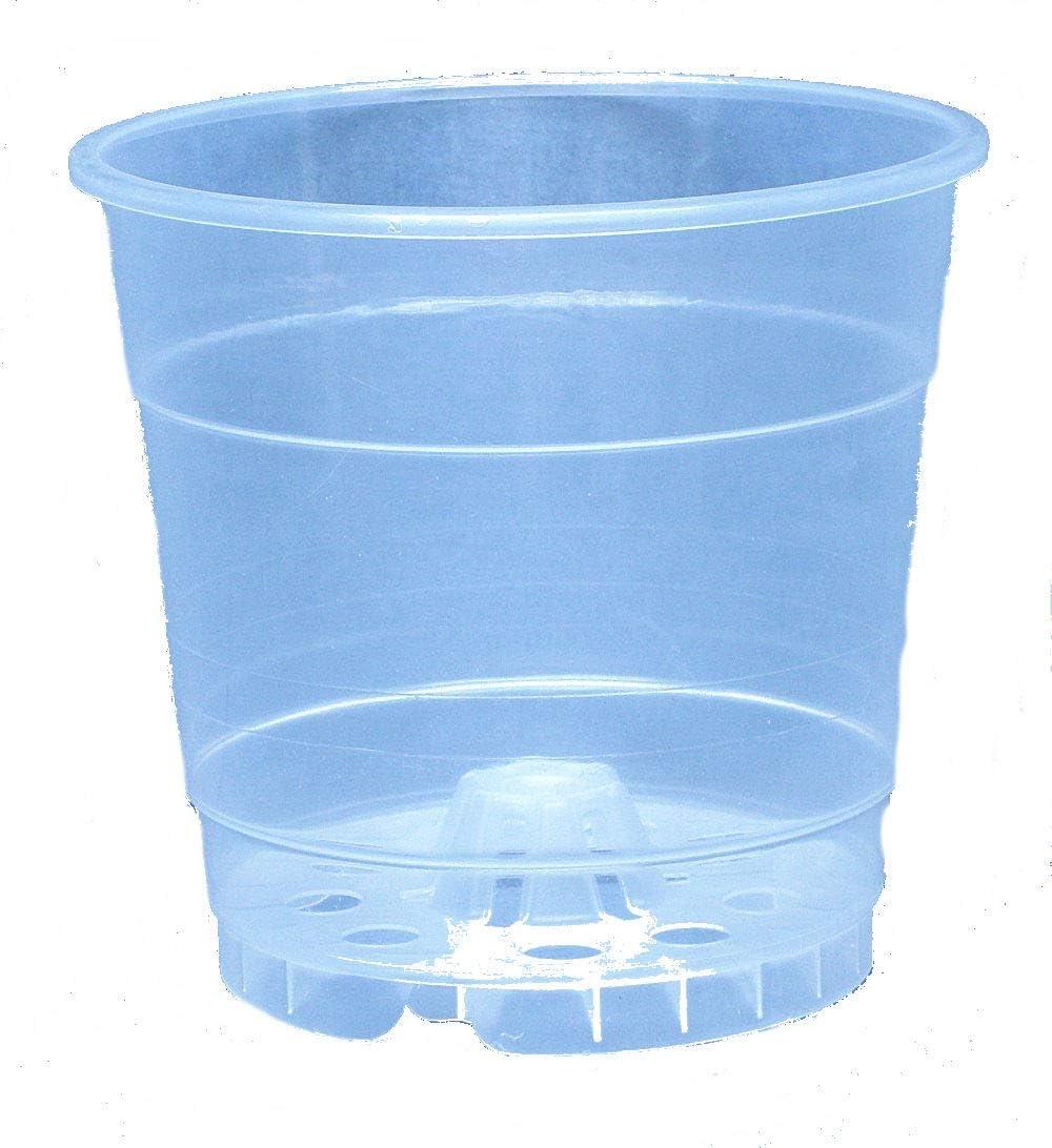 Quantity 4 Clear Plastic Pot for Orchids 8 1//4 inch Diameter