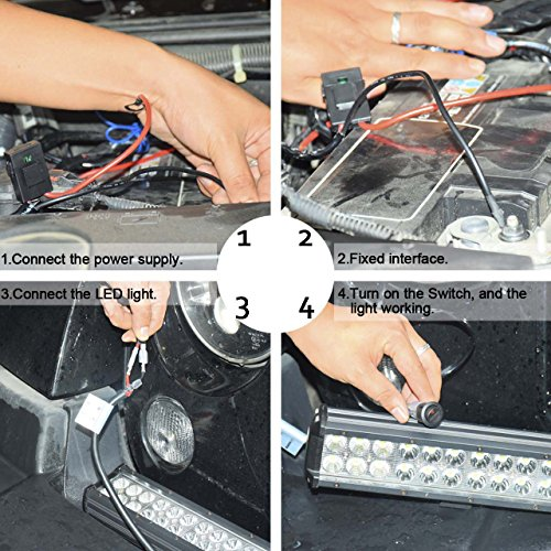 Eyourlife-Wiring-Harness-Kit-12V-40A-Off-Road-Led-Light-Bar-Relay-On-Off-Waterproof-Switch-Relay