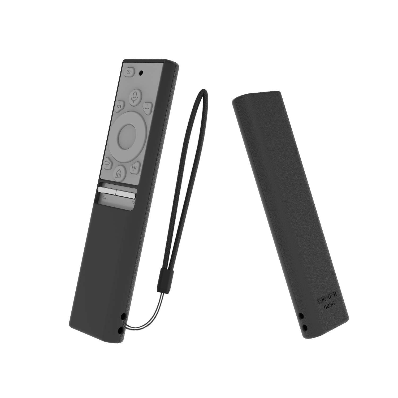 Carcasa de Silicona Antideslizante para Mando a Distancia Samsung BN59-01265A (Negro & Gris)