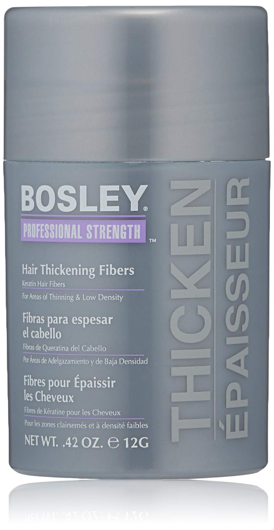 Bosley Professional Strength Hair Thickening Fibers, Black, 0.42 Ounce by Bosley Professional Strength