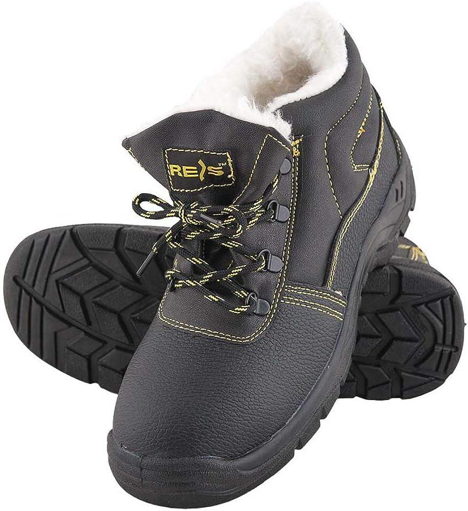 REIS Chaussures de Travail Chaussures de S/écurit/é to Empeigne Cuir de Vachette S3/Chaussures dhiver gef/ütter Embout en Acier