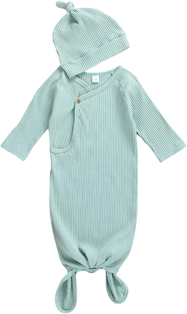 Newborn Infant Baby Girl Boy Gowns Sleeping Bag Pajamas Coming Home Outfits Swaddle Blanket Cotton Nightgown Sleepwear