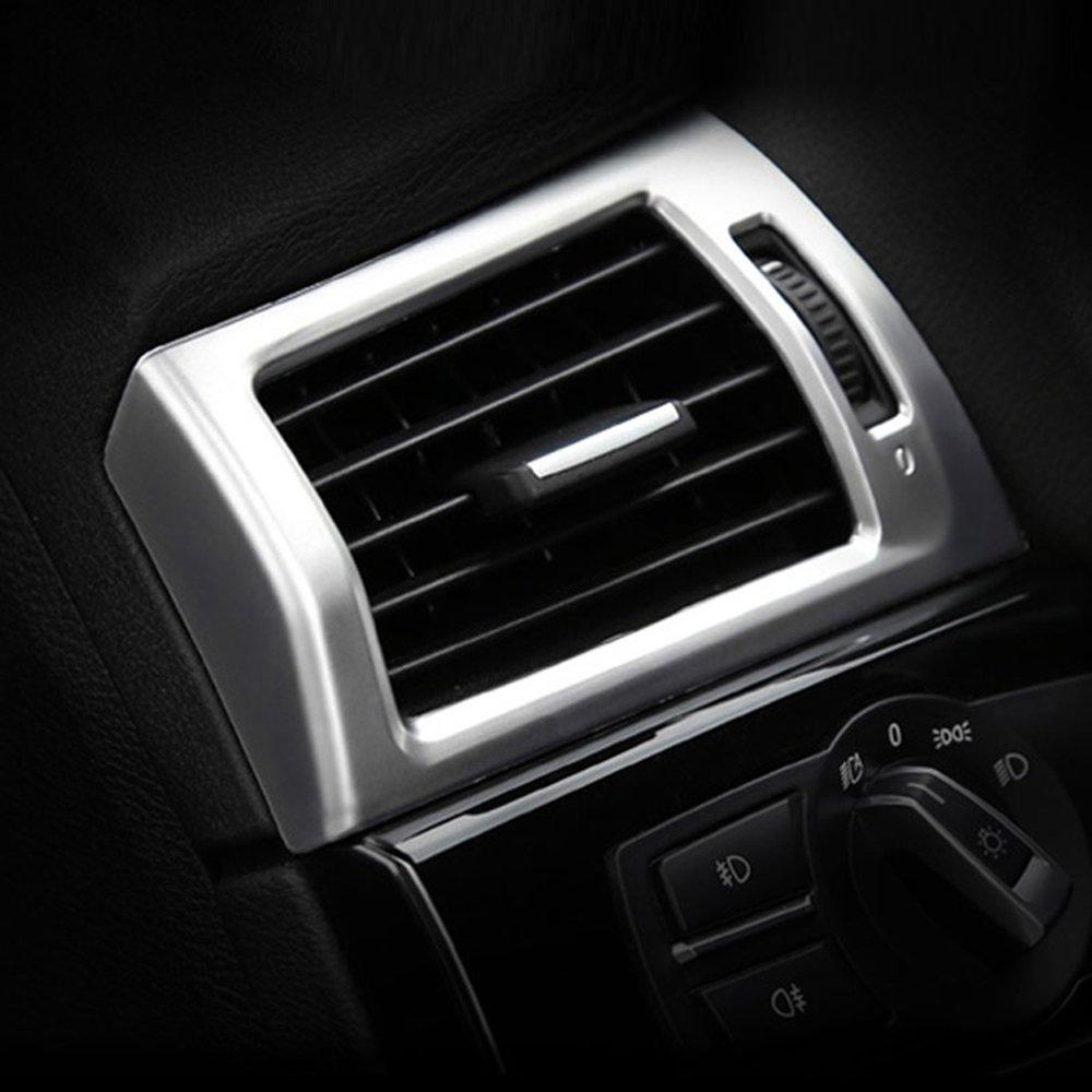 ABS cromato opaco lato aria condizionata Outlet cover Trim adesivi auto styling accessori per Lhd METYOUCAR
