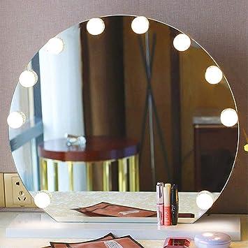 Sonew Kit de Luces LED para Espejo, 10 Unidades de Bombillas Regulables, Tira de iluminación LED ...