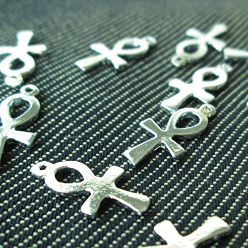 - Np Supplies 12 PCs of Ankh Egyptian Cross Charms Pendants (NS105)