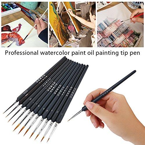 pinceaux professionnels pour peindre artiste acrylique Aquarelle kiic pinceau pour peinture acrylique