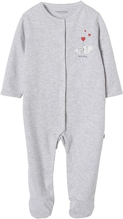 VERTBAUDET Lote de 2 pijamas de algodón orgánico para bebé recién nacido Mon Trésor BLANCO MEDIO BICOLOR/MULTICOLO 1M-54CM: Amazon.es: Bebé