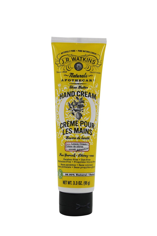 J.R. Watkins: Shea Butter Hand Cream, Lemon 3.3 oz (2 pack)
