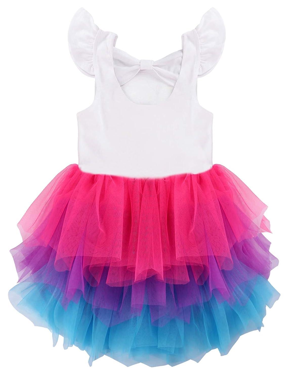Unicorn Flamingo Birthday Princess Flower Girl Dress Party Wedding Clothes