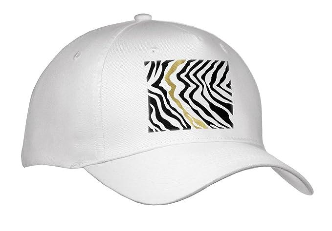 dbc505a0d1e Amazon.com  PS Animal Print - Black Gold Glam Zebra Stripes - Caps ...