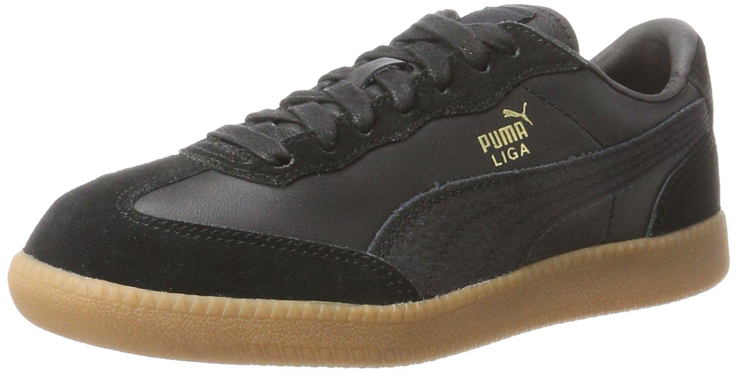 Puma Liga Leather, Zapatillas Unisex Adulto 42 EU Negro (Black-black)