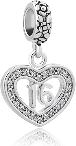 16mm x 21mm Jewel Tie 925 Sterling Silver Special Friend Heart Pendant Charm
