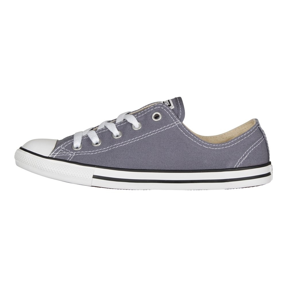Converse Damen Chuck Taylor CTAS Dainty OX Canvas Fitnessschuhe  355 EU|Blau (Light Carbon/White/Black 534)