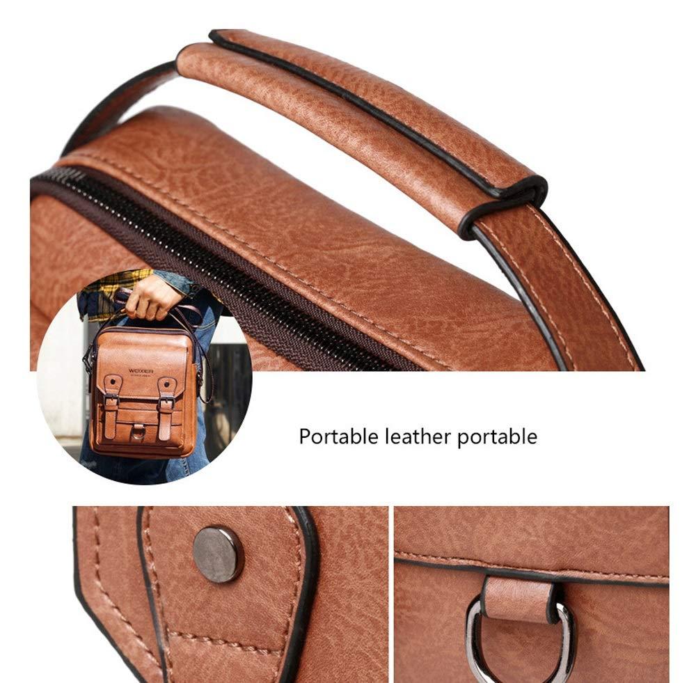 Ysswjzz Laptop Messenger Bag, vattentät läderväska portfölj vintage axelväska stor arbetsväska, L. b
