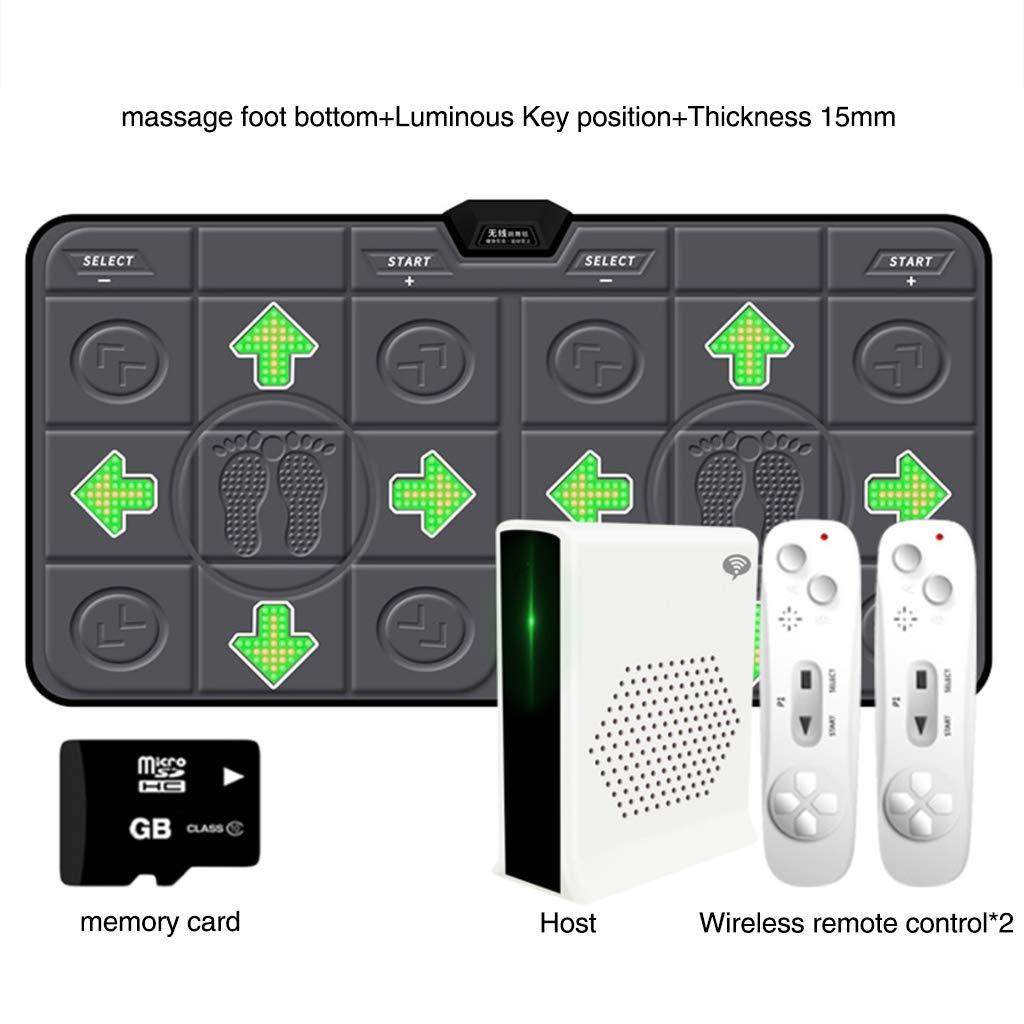 WEWE Thicken Wireless Dance Pad,Children Game Dance Mat Dance Revolution Hd Tv Computer Dual- Motion Fitness Running Mat-f 163x93cm(64x37inch) by WEWE (Image #1)