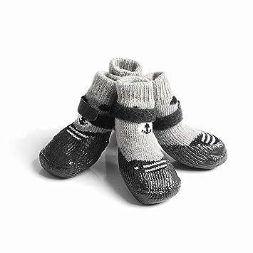 Amazon.com: 4 calcetines antideslizantes para perro ...