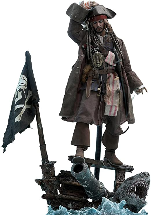 Amazon.com: Hot Toys Captain Jack Sparrow Sixth Scale Figure Pirates of the Caribbean: Dead Men Tell No Tales - DX Series Movie Masterpiece Johnny Depp Action Figure: Toys & Games