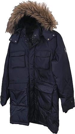 Men'S Navy Parka Coat