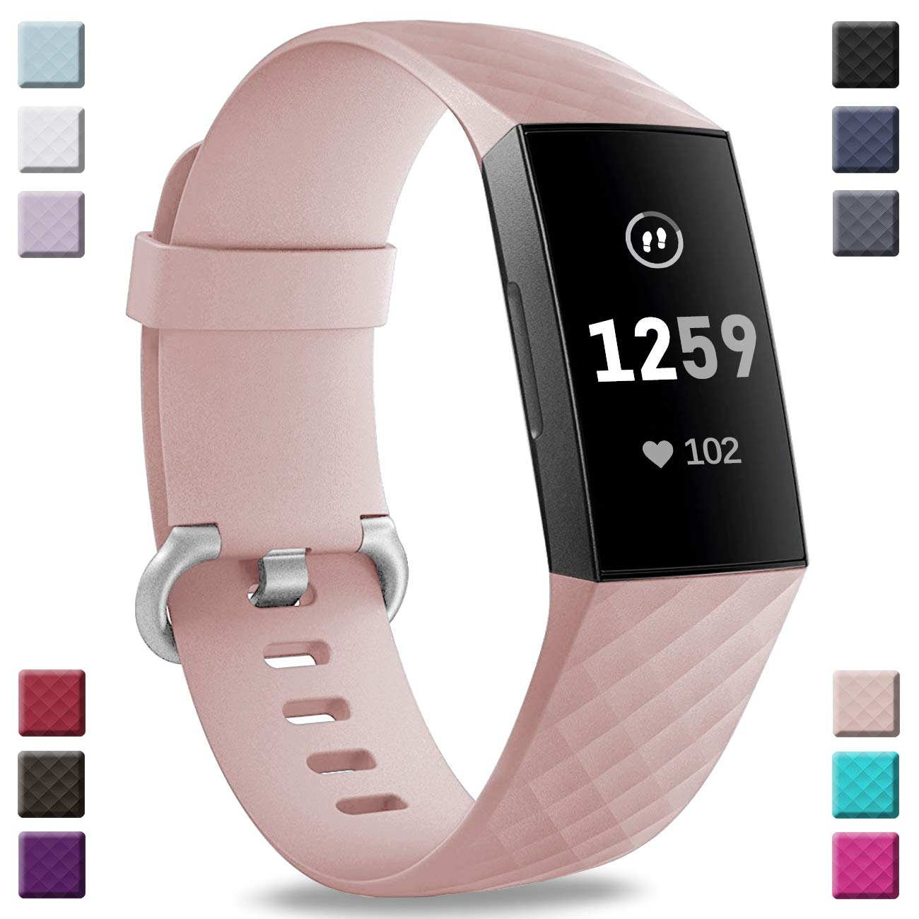 Malla Para Reloj Fitbit Charge 3 Y Charge 3 Se (rosa)