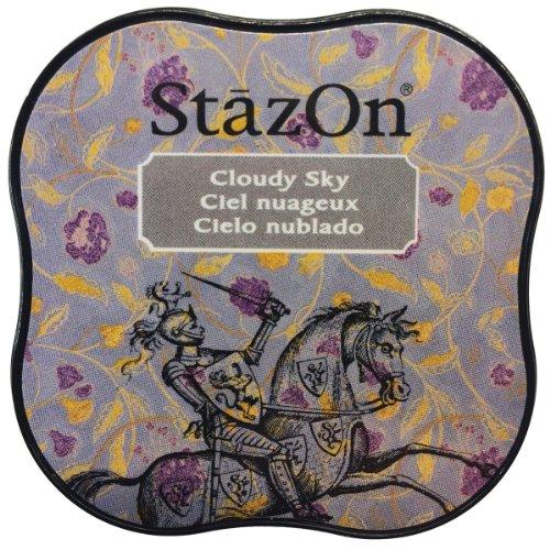 Gray Stazon Ink - Tsukineko SZMID-34 StazOn Midi Ink Pad, Cloudy Sky