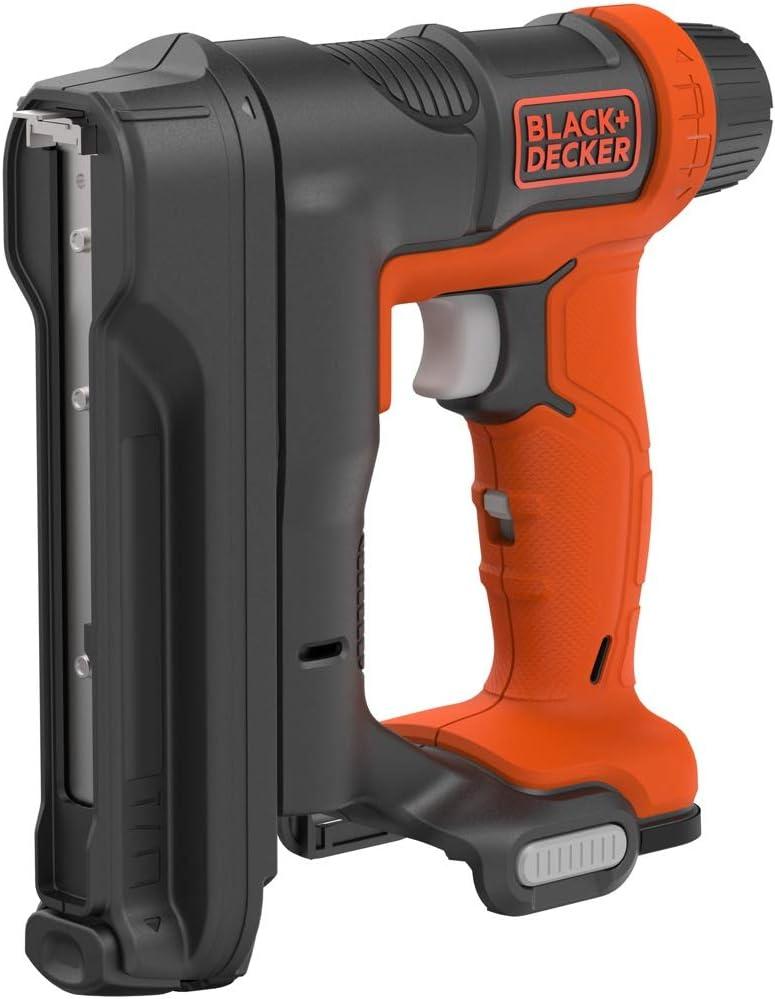 BLACK+DECKER BDCT12N-XJ - Grapadora clavadora 12 V, acepta grapas 6-14 mm, clavos 12 y 15 mm