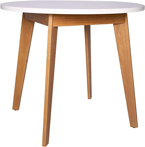 Amazon Brand Rivet Noah Round Modern Ash Dining Table