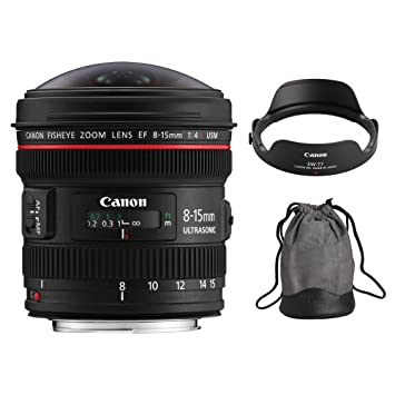 Canon EF 8 - 15 mm f/4L Ojo de Pez USM Lente Zoom Ultra Gran ...