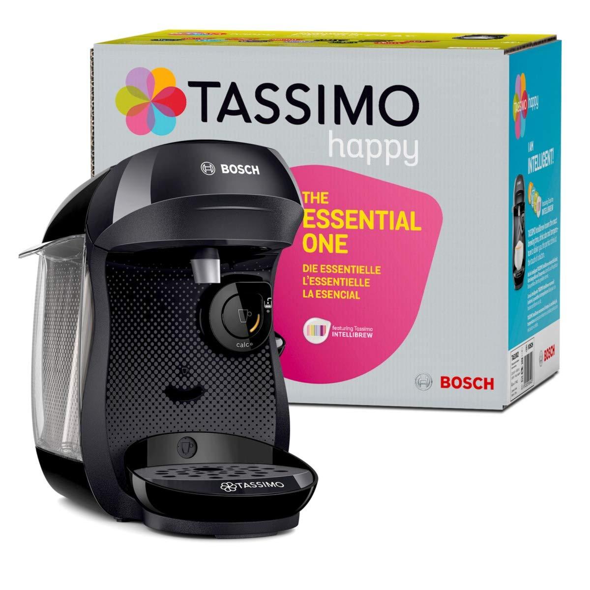Bosch TAS1002 Tassimo Happy Cafetera, 1400 W, 0.7 litros, Plástico, Negro