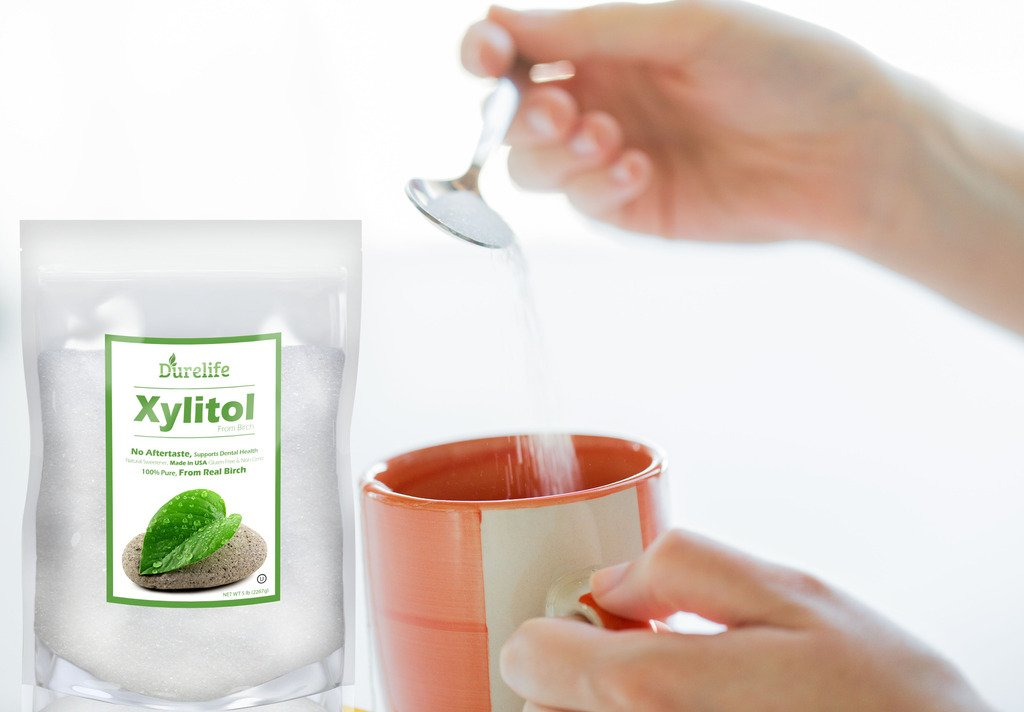 DureLife Birch XYLITOL Sugar Substitute 5 LB Bulk Size (80 OZ) Made From Pure Birch Xylitol In The USA , NON GMO - Gluten Free - Kosher , Packaged In A Large Resealable zipper lock Stand Up Pouch Bag by DureLife (Image #8)