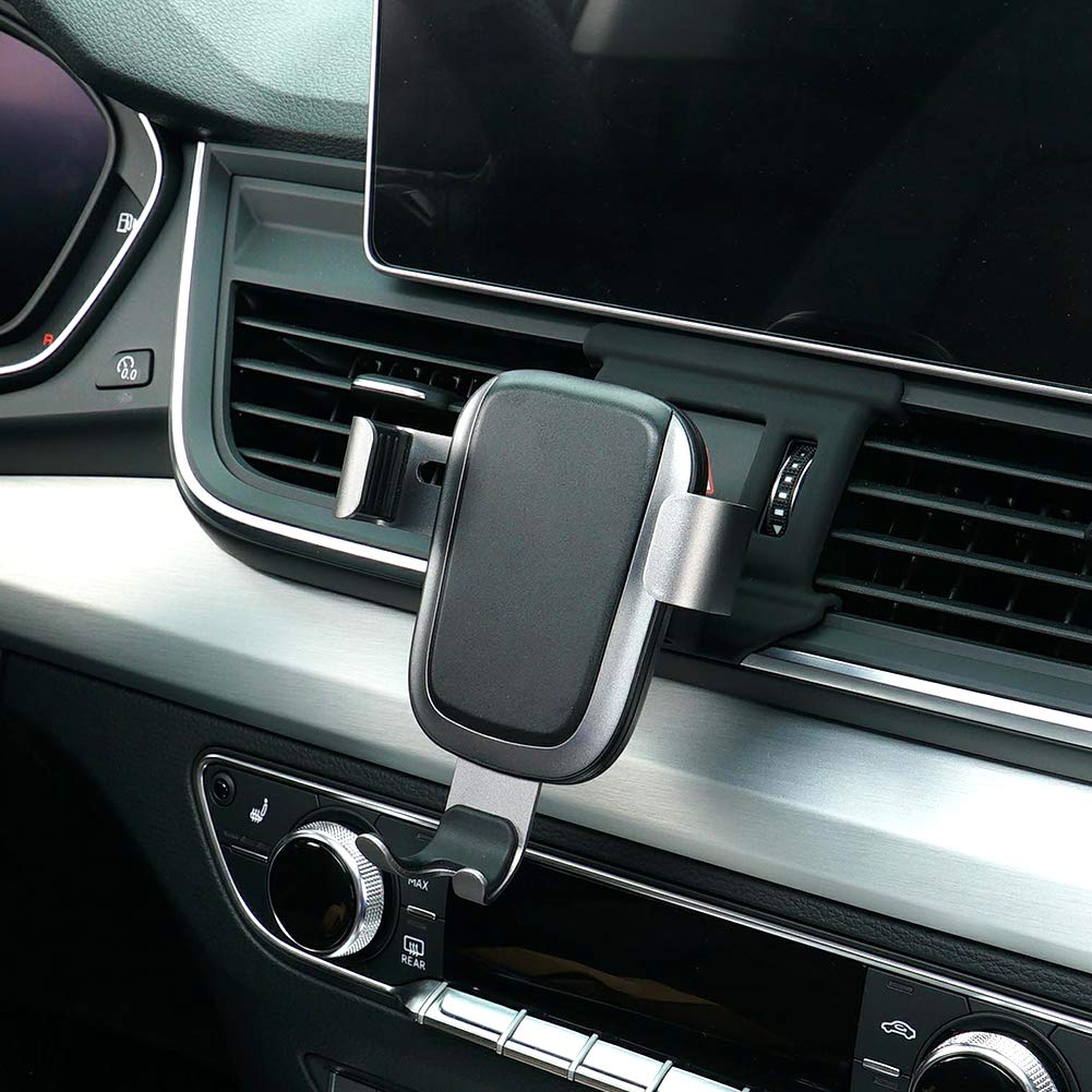 Phone Holder for Audi Q5,Adjustable Air Vent Phone Holder Audi, Dashboard Cell Phone Holder for Audi Q5 2018,Phone Mount for iPhone 8 iPhone X,Wireless Charging Smartphone 5.5~6 Inch.for Samsung