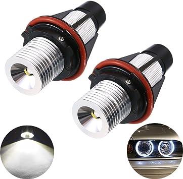 Error Free LED Angel Eyes Halo Light 5W For MW E39 E87 E60 E63 E65 E66 E53 X5